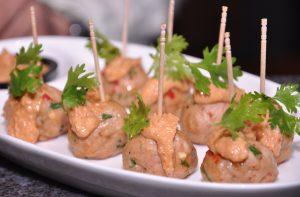 Thai Chicken Meatballs Flavoured with Thai Herbs [39718]