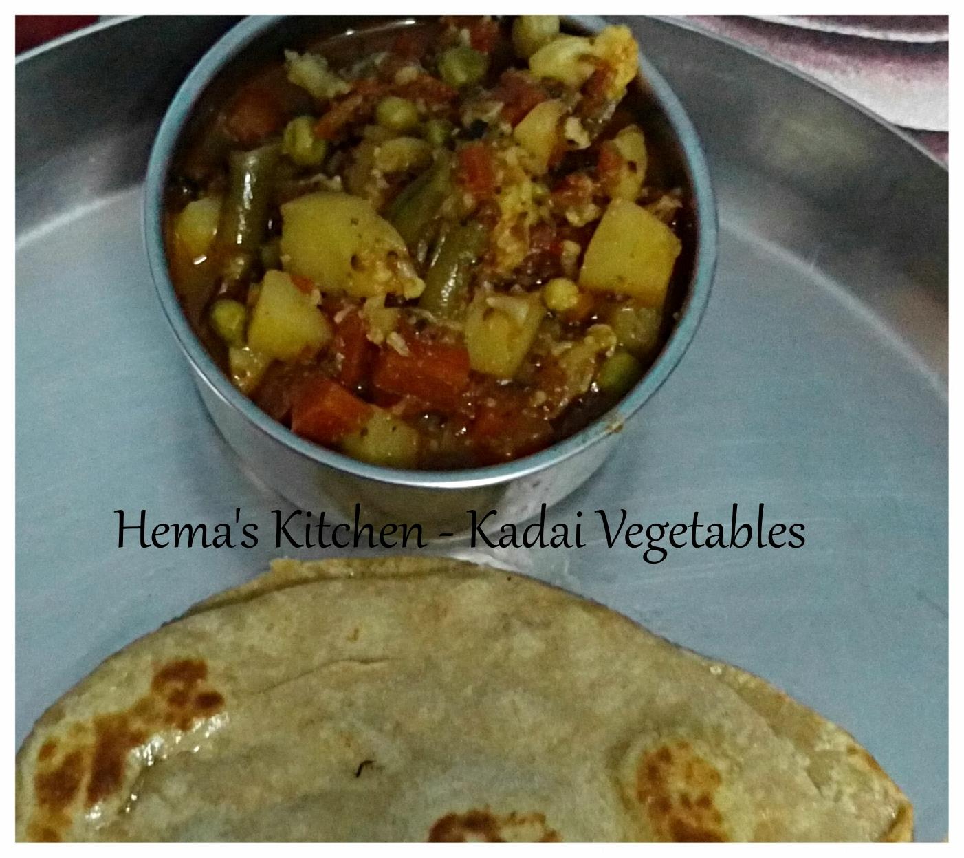 Kadai vegetables
