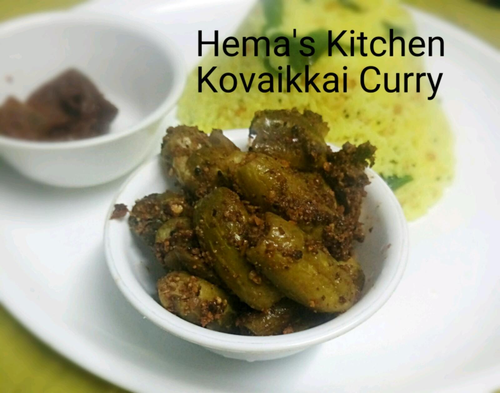 kovaikkai ivy gourd curry with masala powder hema s kitchen