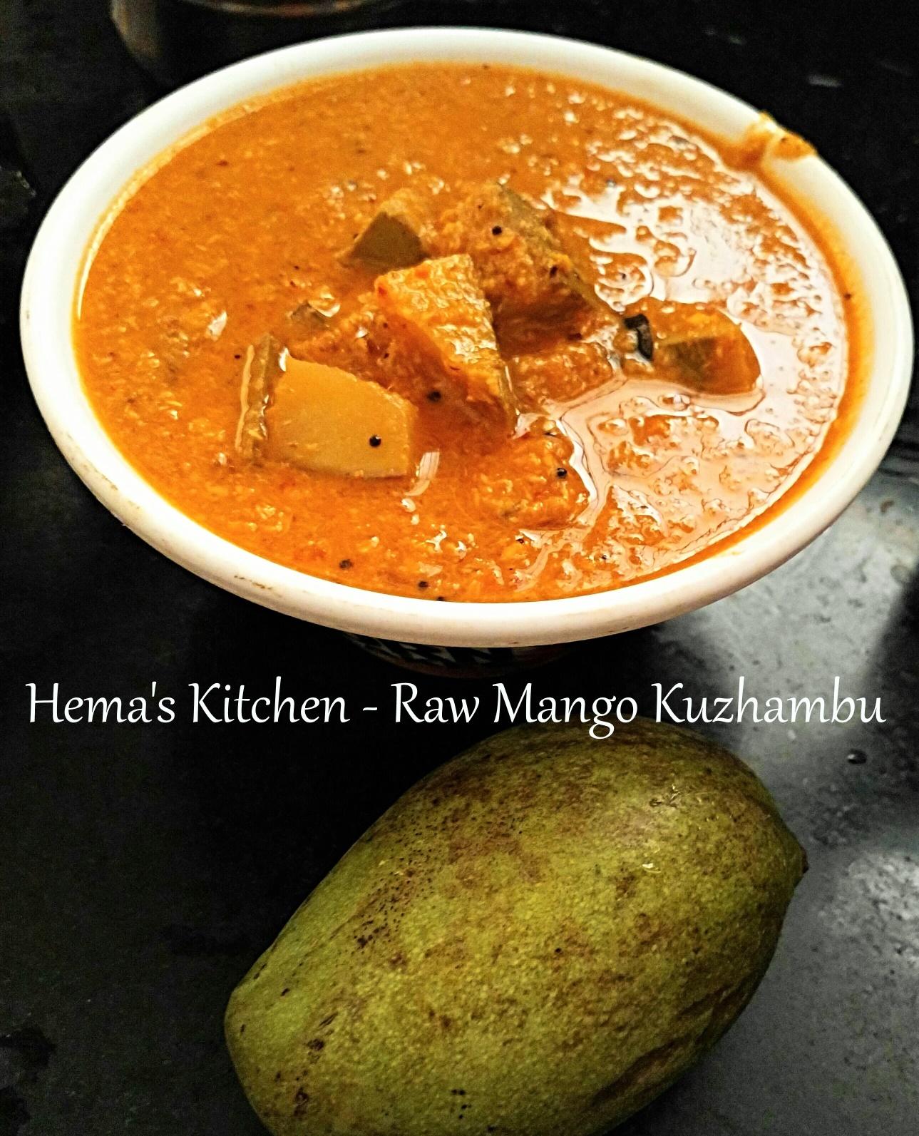 Raw mango kuzhambu
