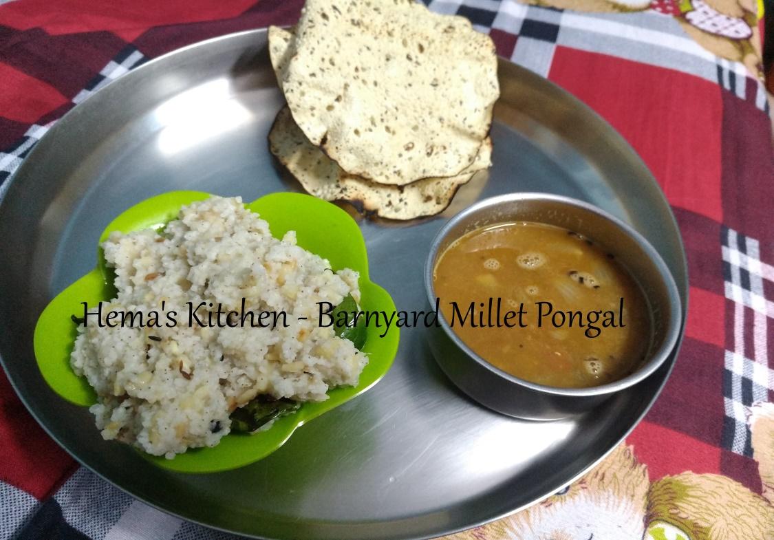 Barnyard Millet Pongal