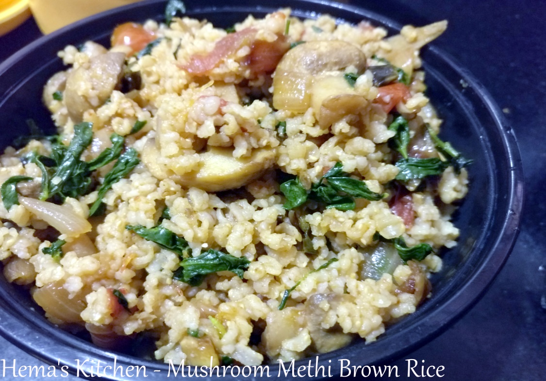 Mushroom Methi Brown Rice
