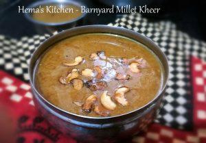 Barnyard Millet Kheer