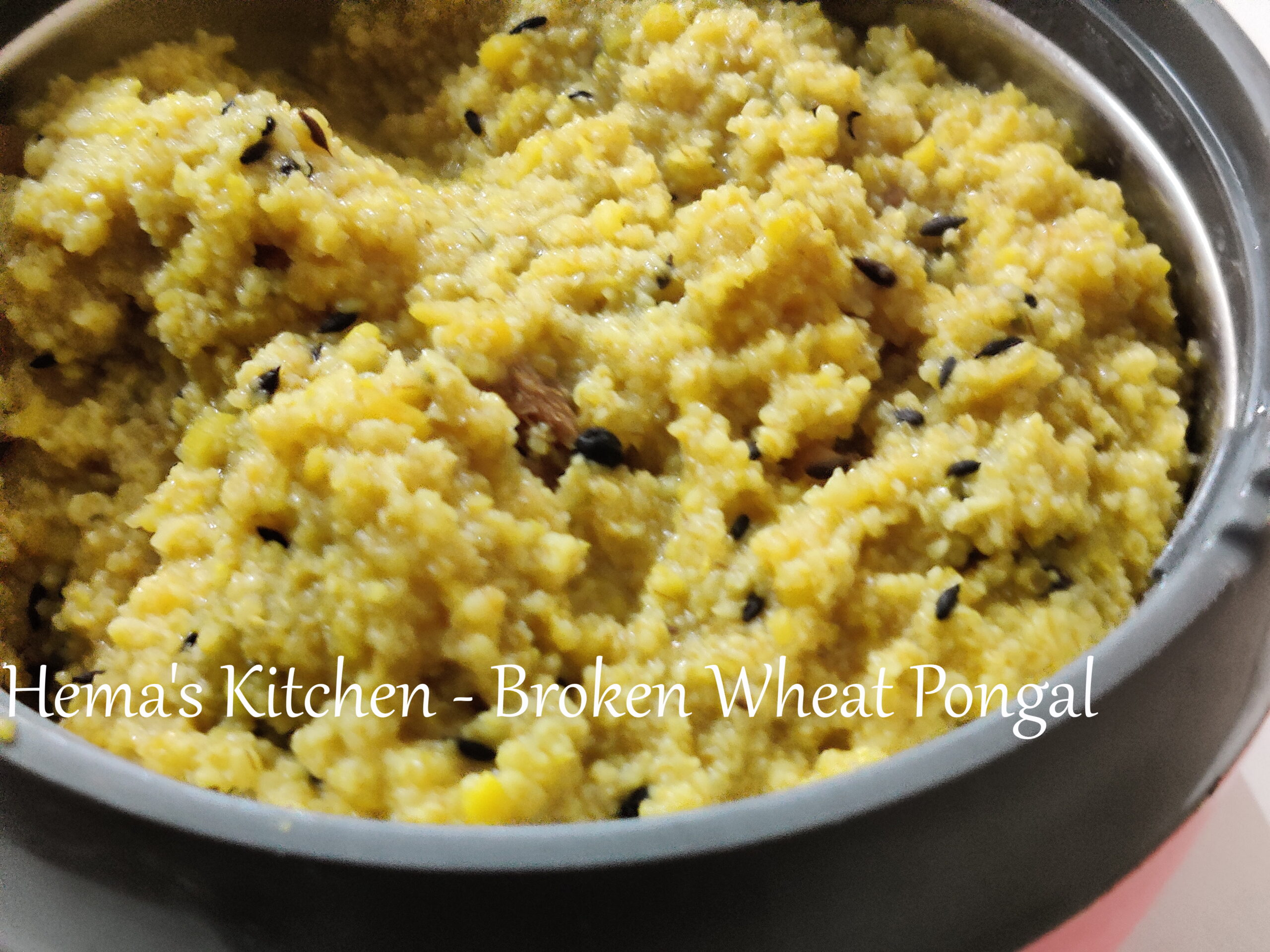 Pongal made from broken wheat