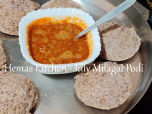 Idly Podi with Ragi Idli