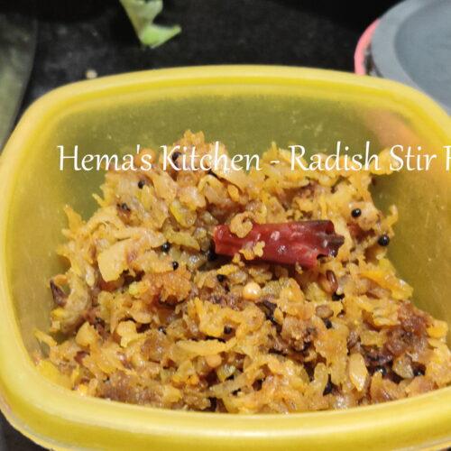 Radish Stir Fry