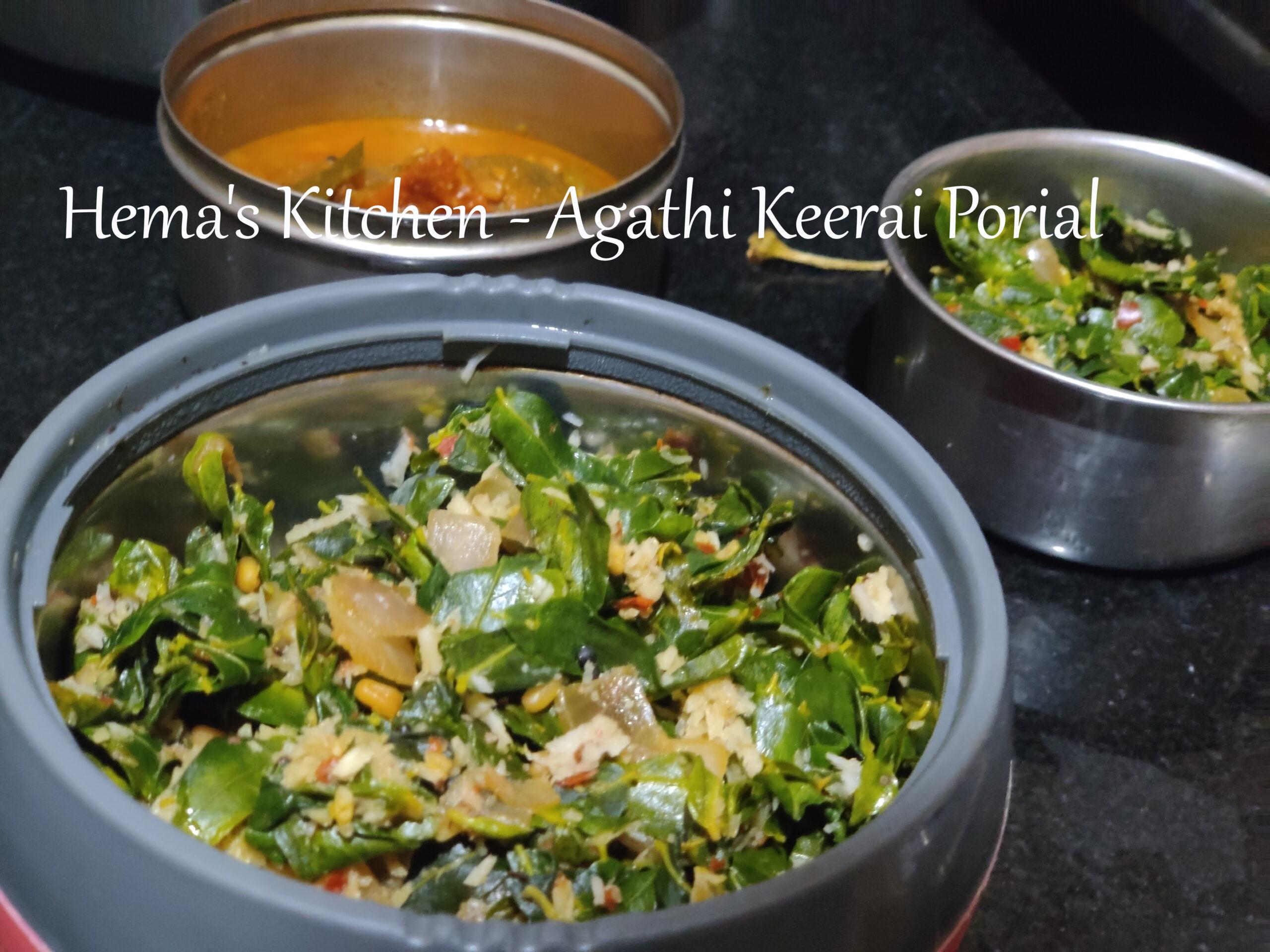 Agathi Keerai Porial